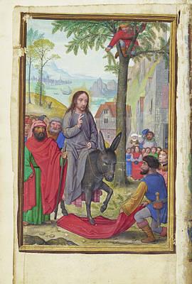 Jerusalem Painting - The Entry Into Jerusalem Simon Bening, Flemish by Litz Collection
