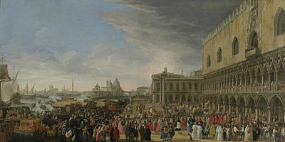The Entry Of The French Ambassador In Venice In 1706 Art Print by Litz Collection
