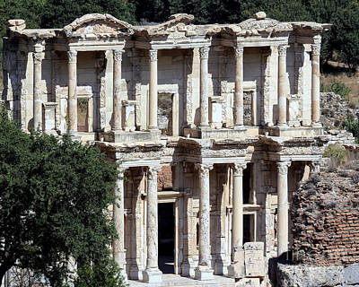 Photograph - The Ephesus Library In Turkey by Sabrina L Ryan
