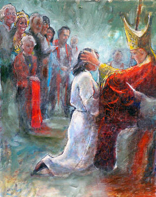 Painting - The Episcopal Ordination Of Sierra Wilkinson by Gertrude Palmer