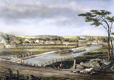 Drawing - The Erie Canal, 1829 by Granger