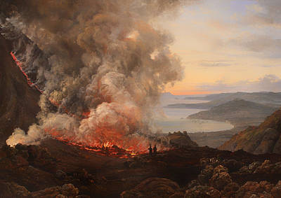 Smoky Painting - The Eruption Of The Volcano Vesuvius  by Mountain Dreams
