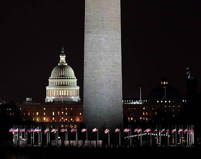 The Essence Of Washington At Night Art Print