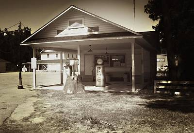 Photograph - The Esso Station by Bob Pardue