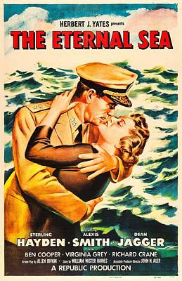 1950s Movies Photograph - The Eternal Sea, Us Poster, From Left by Everett