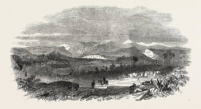 Vale Drawing - The Euphrates Valley Route To India The Valley Of Suediah by English School