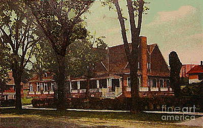 The Evanston Club In Evanston Il In 1910 Art Print by Dwight Goss