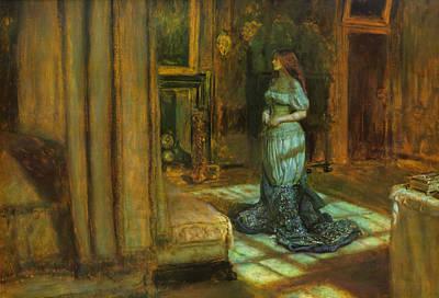 The Eve Of St Agnes Art Print by John Everett Millais