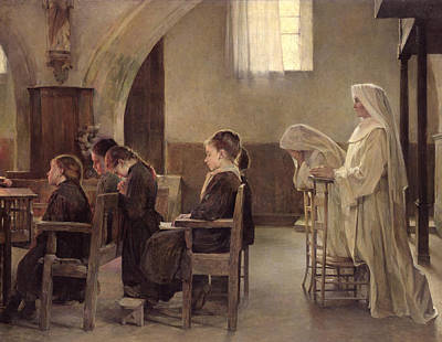 Communion Painting - The Eve Of The First Communion by Henri Alphonse Louis Laurent-Desrousseaux