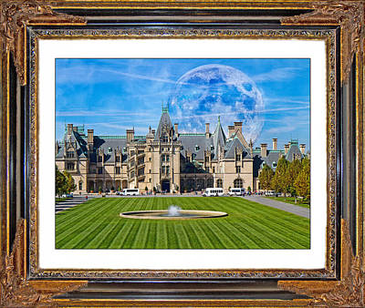 Asheville Mixed Media - The Evening Begins At Biltmore by Betsy Knapp
