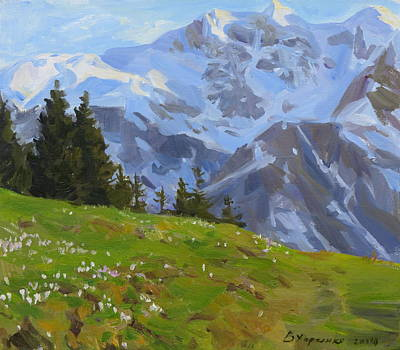 Mountain Royalty-Free and Rights-Managed Images - The evening in mountains by Victoria Kharchenko