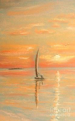 Painting - The Evening Light by The Beach  Dreamer
