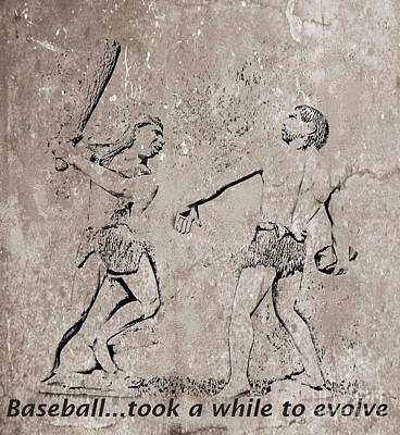 Sports Artist Mixed Media - The Evolution Of Baseball by John Malone
