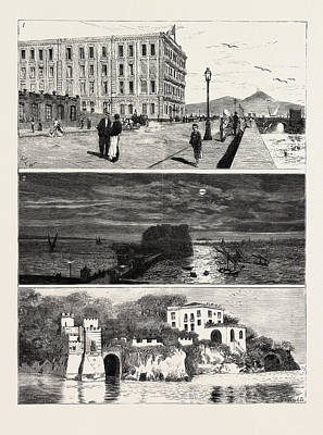 The Ex Khedive Of Egypt At Naples, Italy Print by Egyptian School