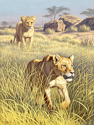 Lion Painting - The Example   by Paul Krapf