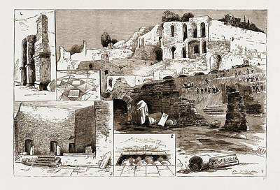 The Excavations In Rome Discovery Of The House Art Print by Litz Collection