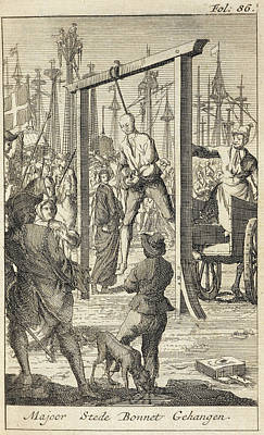 The Execution In 1718 Of Stede Bonnet Print by British Library