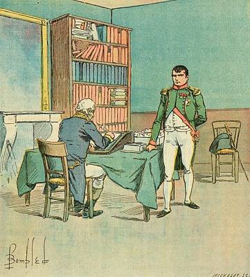 Dictate Drawing - The Exiled Napoleon Dictates by Mary Evans Picture Library
