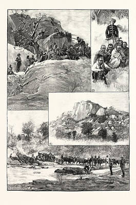 The Expedition To Mashonaland 1. Banyai Fugitives Art Print by South African School