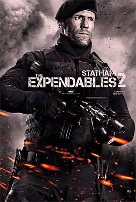 The Expendables 2 Statham Art Print