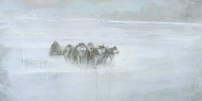 Winter Storm Painting - The Explorer by Steve Mitchell