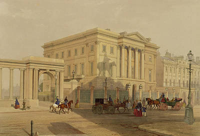 Park Scene Painting - The Exterior Of Apsley House, 1853 by English School