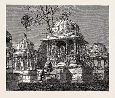 The Exterior Of The Cemetery Of Mara Sati Art Print