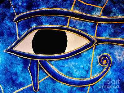 Photograph - The Eye In Blue by Steven Parker
