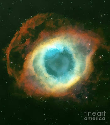 Cosmology Painting - The Eye by Odon Czintos