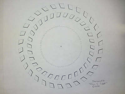Drawing - The Eye Of Pi by Jason Padgett