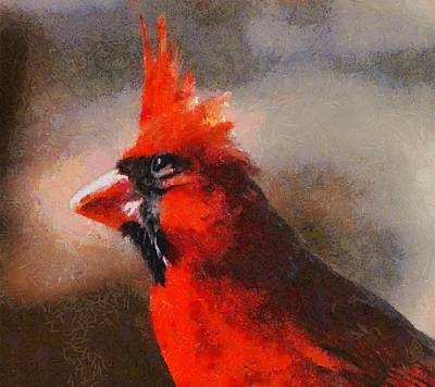 Digital Art - The Eye Of The Cardinal by Carrie OBrien Sibley