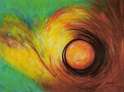 The Eye Of The Storm..... Print by Renate Dartois