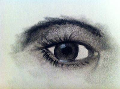 Drawing - The Eye by Renee Michelle Wenker