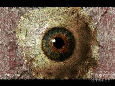 Disability Digital Art - The Eyes 12 by Holley Jacobs