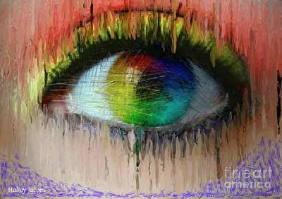 Disability Digital Art - The Eyes 2 by Holley Jacobs