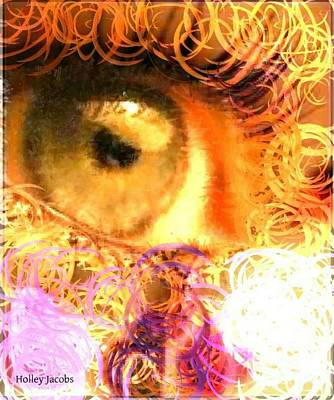 Disability Digital Art - The Eyes 4 by Holley Jacobs