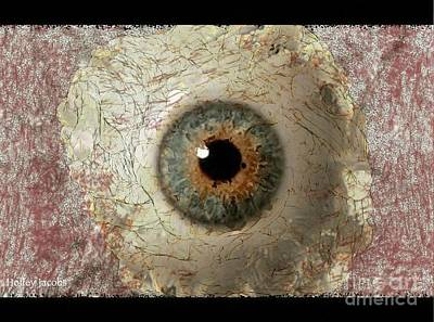 Disability Digital Art - The Eyes 6 by Holley Jacobs