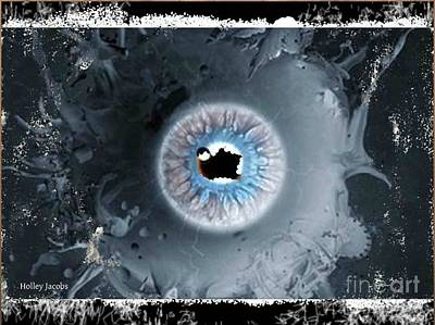 Disability Digital Art - The Eyes 7 by Holley Jacobs