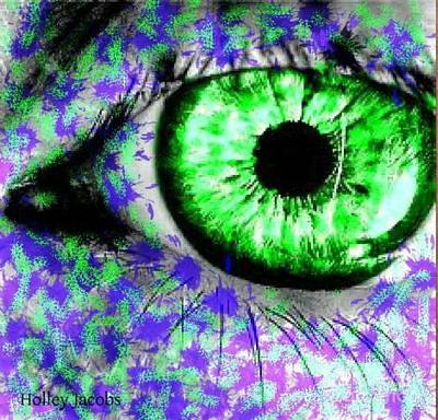 Disability Digital Art - The Eyes 8 by Holley Jacobs