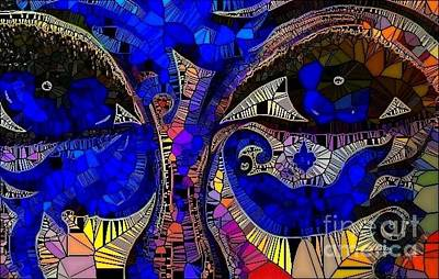 The Eyes Have It. 1 Mosaic Art Print