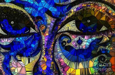 Painting - The Eyes Have It Abstract by Saundra Myles