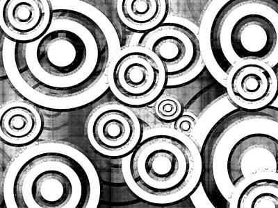 Dots And Lines Digital Art - The Eyes Have It - Dramatic Film Noir Version by Shawna Rowe