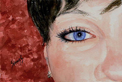 Painting - The Eyes Have It - Nicole by Sam Sidders