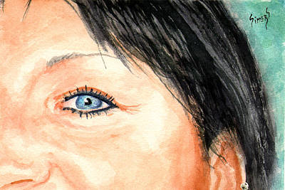 Painting - The Eyes Have It - Tami by Sam Sidders