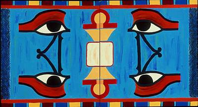 Painting - The Eyes Of Heru by Karen Buford