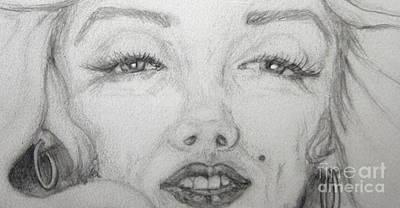 the eyes of Marilyn Print by Nancy Rucker