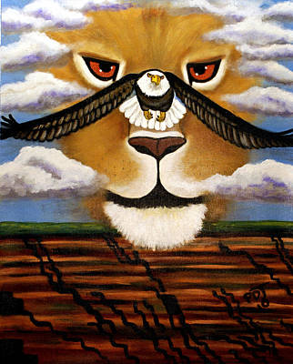 Lion Of Judah Painting - The Eyes Of The Lord Go  by Pamorama Jones