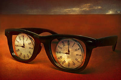 Surrealism Royalty Free Images - The Eyes Of Time Royalty-Free Image by Jeff  Gettis