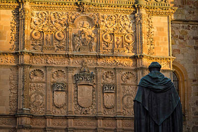 Photograph - The Facade Of The University Of Salamanca by Pablo Lopez