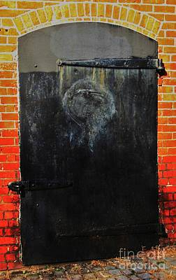 The Face In The Door 2 Print by Marcus Dagan
